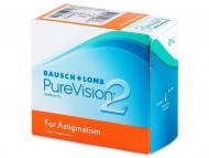 Mesačné kontaktné šošovky - PureVision 2 for Astigmatism (6šošoviek)