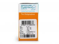 PureVision 2 for Astigmatism (6šošoviek) - Náhľad parametrov šošoviek