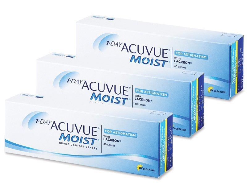 1 Day Acuvue Moist for Astigmatism (90šošoviek) - Torické kontaktné šošovky