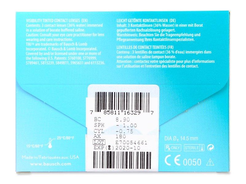 PureVision 2 for Astigmatism (3šošovky) - Náhľad parametrov šošoviek