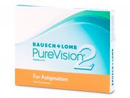 Mesačné kontaktné šošovky - PureVision 2 for Astigmatism (3šošovky)