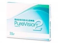 Mesačné kontaktné šošovky - PureVision 2 (3šošovky)