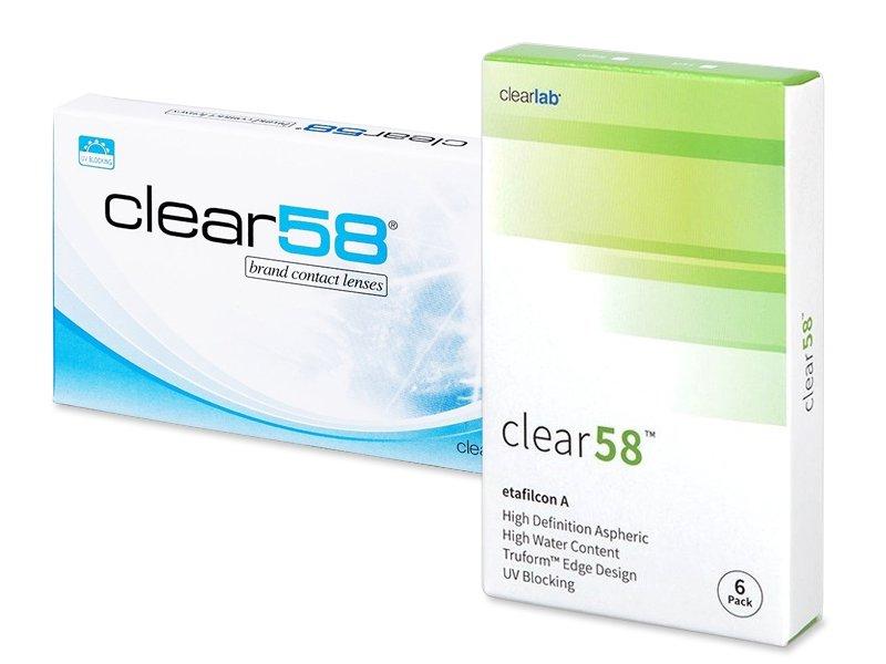 e3abd52b6 Kontaktné šošovky Clear 58 (6 šošoviek) od 21.99 € – ClearLab ...