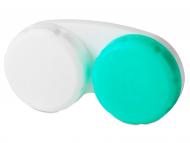 """Príslušenstvo - Puzdro na šošovky zeleno-biele so znakom """"R"""""""