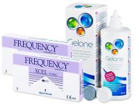 FREQUENCY XCEL TORIC XR (2x3 šošovky) +roztokGelone360ml