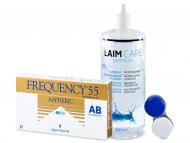 Kontaktné šošovky lacno - Frequency 55 Aspheric (6šošoviek) + roztok Laim Care 400ml