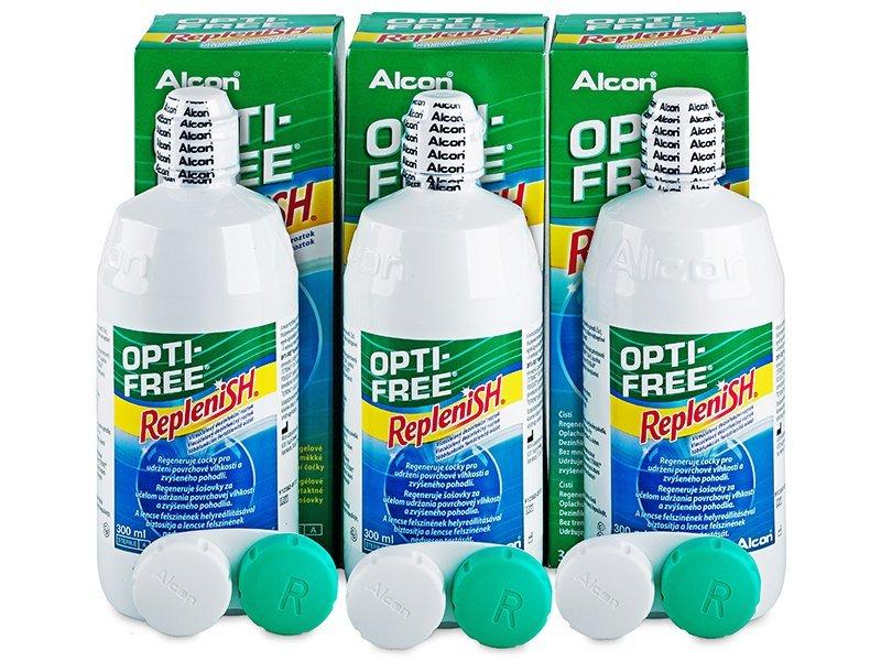 Roztok OPTI-FREE RepleniSH 3 x 300ml  - Výhodné trojbalenie roztoku