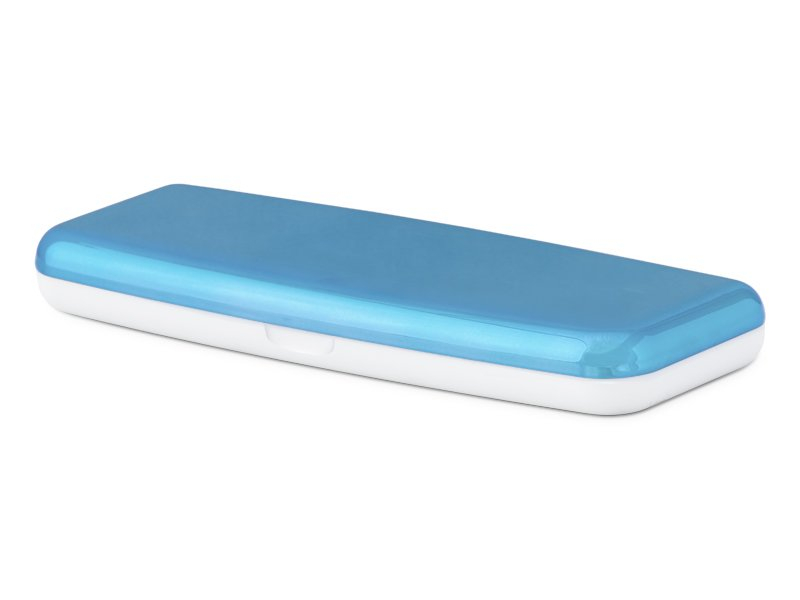 Pevné puzdro na jednodňové šošovky - modré  - Pevné puzdro na jednodňové šošovky - modré