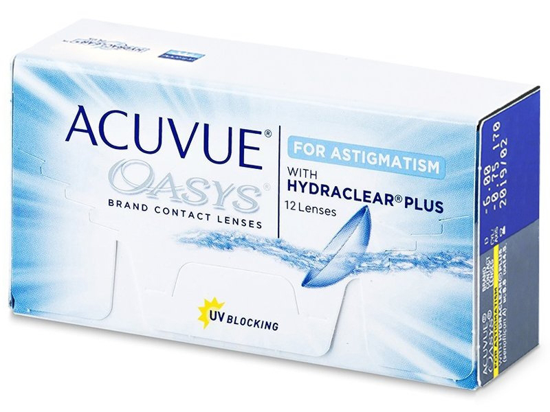 Torické kontaktné šošovky - Acuvue Oasys for Astigmatism (12šošoviek)