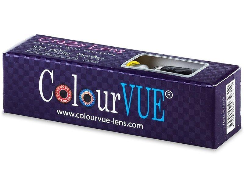 ColourVUE Crazy Lens - BlackOut - nedioptrické (2šošovky) - ColourVUE Crazy Lens - BlackOut - nedioptrické (2šošovky)