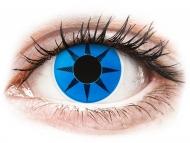 Modré kontaktné šošovky - nedioptrické - ColourVUE Crazy Lens - Blue Star - nedioptrické (2šošovky)