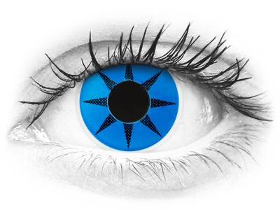 ColourVUE Crazy Lens - Blue Star - nedioptrické (2šošovky)