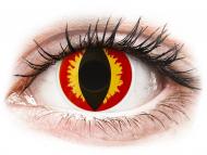 Červené kontaktné šošovky - nedioptrické - ColourVUE Crazy Lens - Dragon Eyes - nedioptrické (2šošovky)