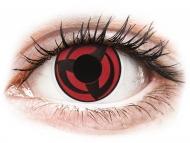 Červené kontaktné šošovky - nedioptrické - ColourVUE Crazy Lens - Kakashi - nedioptrické (2šošovky)