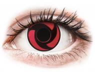 Červené kontaktné šošovky - nedioptrické - ColourVUE Crazy Lens - Mangekyu - nedioptrické (2šošovky)