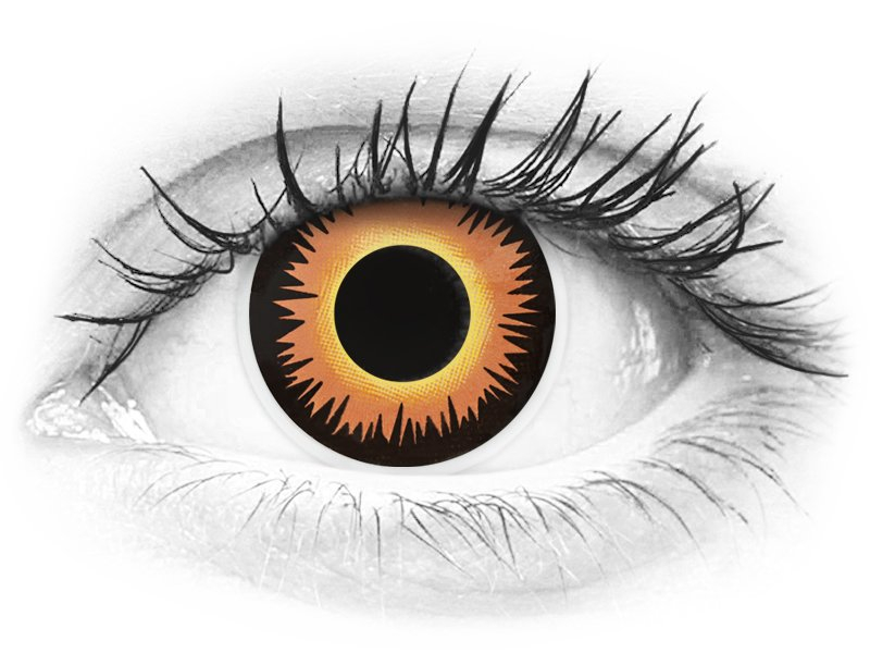 ColourVUE Crazy Lens - Orange Werewolf - nedioptrické (2šošovky) - ColourVUE Crazy Lens - Orange Werewolf - nedioptrické (2šošovky)