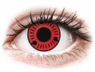 Červené kontaktné šošovky - nedioptrické - ColourVUE Crazy Lens - Sasuke - nedioptrické (2šošovky)