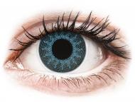 Modré kontaktné šošovky - nedioptrické - ColourVUE Crazy Lens - Solar Blue - nedioptrické (2šošovky)