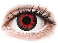 Červené kontaktné šošovky - nedioptrické - ColourVUE Crazy Lens - Volturi - nedioptrické (2šošovky)