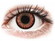 Červené kontaktné šošovky - nedioptrické - ColourVUE Crazy Lens - Vampire - nedioptrické (2šošovky)