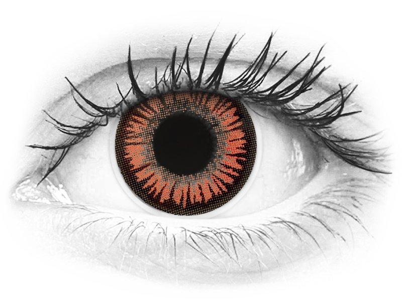 ColourVUE Crazy Lens - Vampire - nedioptrické (2šošovky)