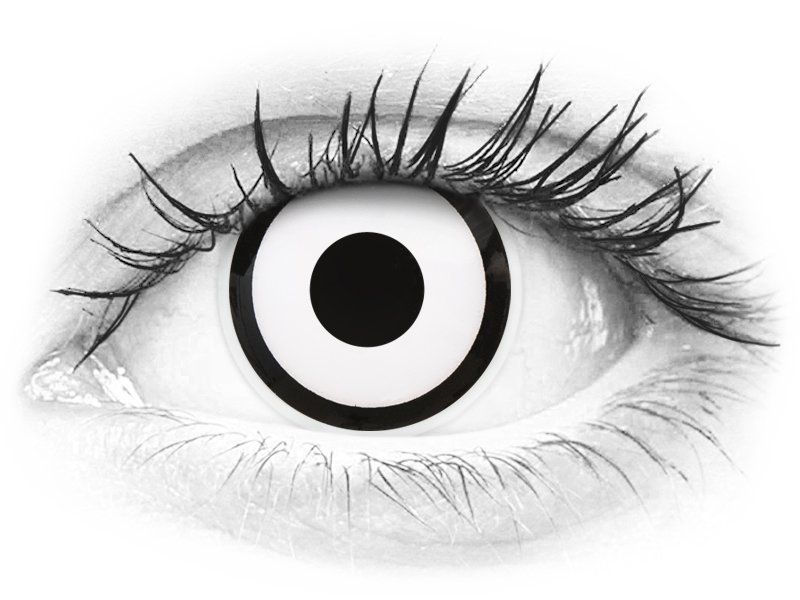 ColourVUE Crazy Lens - White Zombie - nedioptrické (2šošovky) - ColourVUE Crazy Lens - White Zombie - nedioptrické (2šošovky)