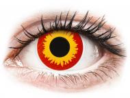 Červené kontaktné šošovky - nedioptrické - ColourVUE Crazy Lens - Wildfire - nedioptrické (2šošovky)