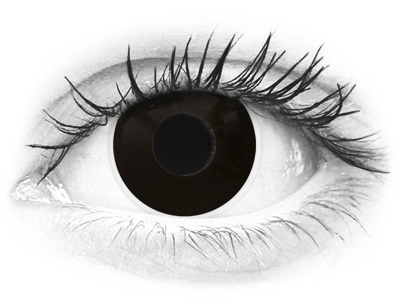 ColourVUE Crazy Lens - BlackOut - dioptrické (2šošovky) - ColourVUE Crazy Lens - BlackOut - dioptrické (2šošovky)
