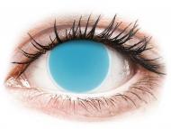 Modré kontaktné šošovky - nedioptrické - ColourVUE Crazy Glow Electric Blue - nedioptrické (2šošovky)