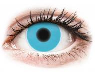 Modré kontaktné šošovky - nedioptrické - ColourVUE Crazy Glow Blue - nedioptrické (2šošovky)