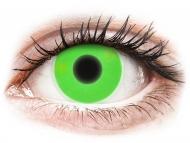 Kontaktné šošovky Maxvue Vision - ColourVUE Crazy Glow Green - nedioptrické (2šošovky)
