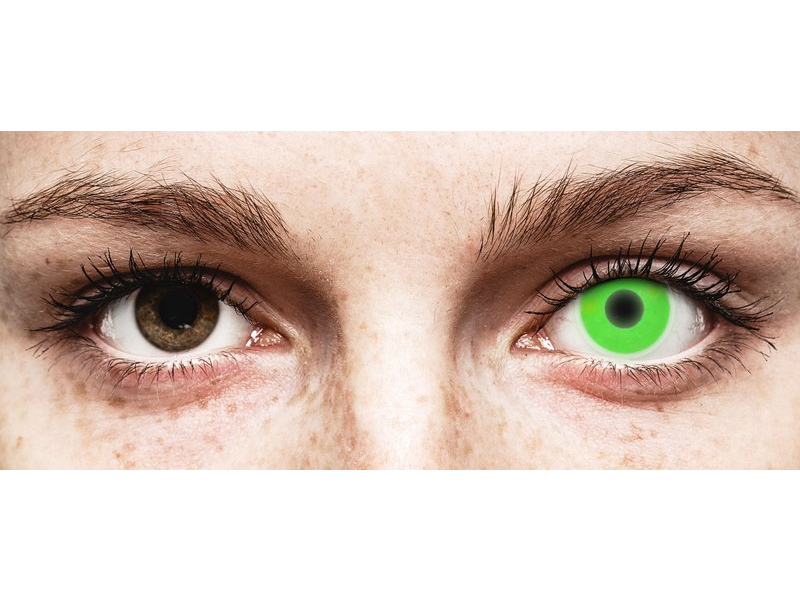 ColourVUE Crazy Glow Green - nedioptrické (2šošovky) - ColourVUE Crazy Glow Green - nedioptrické (2šošovky)