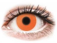Kontaktné šošovky Maxvue Vision - ColourVUE Crazy Glow Orange - nedioptrické (2šošovky)