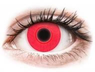 Kontaktné šošovky Maxvue Vision - ColourVUE Crazy Glow Red - nedioptrické (2šošovky)