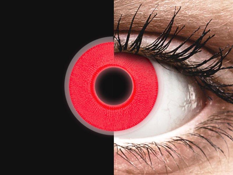 ColourVUE Crazy Glow Red - nedioptrické (2šošovky) - ColourVUE Crazy Glow Red - nedioptrické (2šošovky)