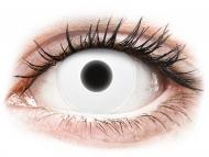 Kontaktné šošovky Maxvue Vision - ColourVUE Crazy Glow White - nedioptrické (2šošovky)