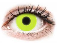 Kontaktné šošovky Maxvue Vision - ColourVUE Crazy Glow Yellow - nedioptrické (2šošovky)