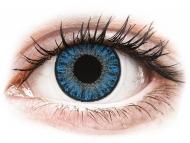 Modré kontaktné šošovky - dioptrické - TopVue Color - Sapphire Blue - dioptrické denné (10šošoviek)