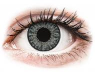 Sivé kontaktné šošovky - dioptrické - TopVue Color - Soft Grey - dioptrické denné (10šošoviek)