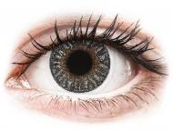 Sivé kontaktné šošovky - dioptrické - TopVue Color - Grey - dioptrické (2šošovky)
