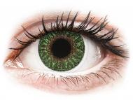 Mesačné kontaktné šošovky - TopVue Color - Green - dioptrické (2šošovky)