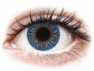 Mesačné kontaktné šošovky - TopVue Color - True Sapphire - dioptrické (2šošovky)