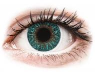 Mesačné kontaktné šošovky - TopVue Color - Turquoise - nedioptrické (2 šošovky)