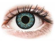 Modré kontaktné šošovky - dioptrické - ColourVUE Glamour Aqua - dioptrické (2šošovky)