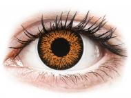 Kontaktné šošovky Maxvue Vision - ColourVUE Glamour Honey - dioptrické (2šošovky)