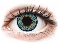 Farebné kontaktné šošovky - kozmetické očné šošovky - zmena farby očí - ColourVUE Elegance Aqua - nedioptrické (2šošovky)