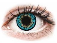 Farebné kontaktné šošovky - kozmetické očné šošovky - zmena farby očí - ColourVUE Elegance Blue - nedioptrické (2šošovky)