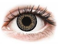 Farebné kontaktné šošovky - kozmetické očné šošovky - zmena farby očí - ColourVUE Elegance Grey - nedioptrické (2šošovky)