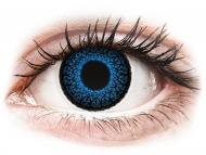 Farebné kontaktné šošovky - kozmetické očné šošovky - zmena farby očí - ColourVUE Eyelush Aqua - nedioptrické (2šošovky)