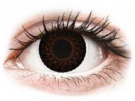 Farebné kontaktné šošovky - kozmetické očné šošovky - zmena farby očí - ColourVUE Eyelush Choco - nedioptrické (2šošovky)